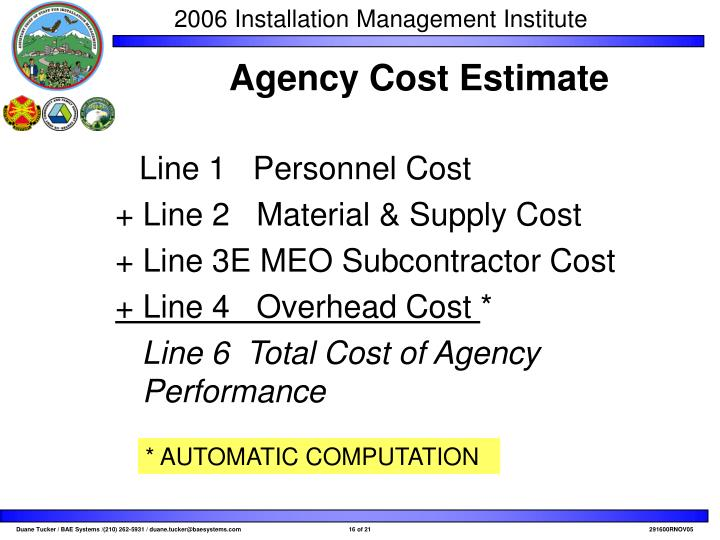 Line 1   Personnel Cost