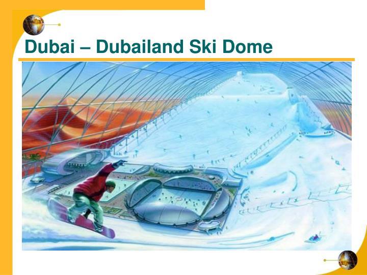 Dubai – Dubailand Ski Dome