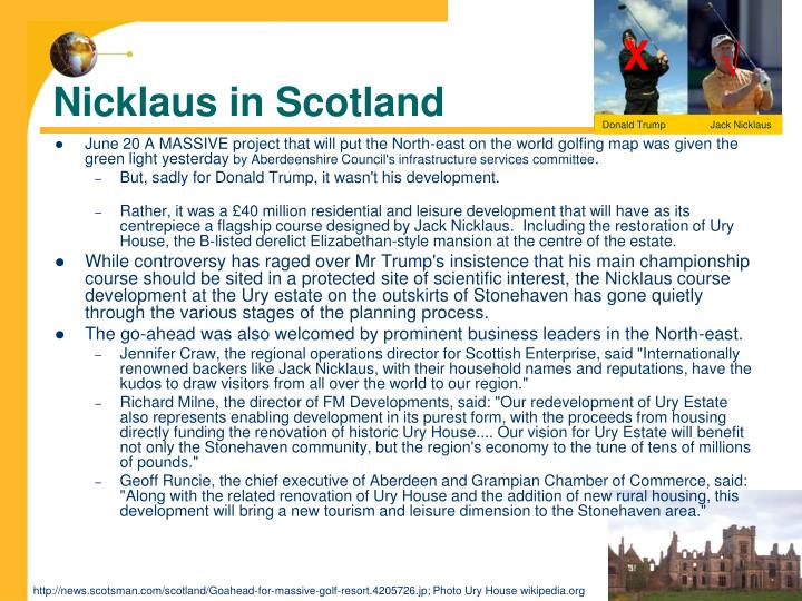 Nicklaus in Scotland