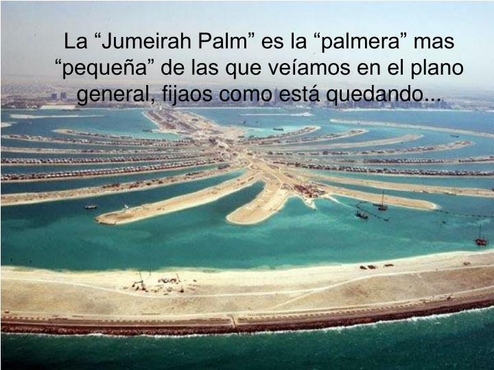 """La """"Jumeirah Palm"""" es la """"palmera"""" mas """"pequeña"""" de las que veíamos en el plano general, fijaos como está quedando..."""