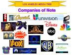 companies of note