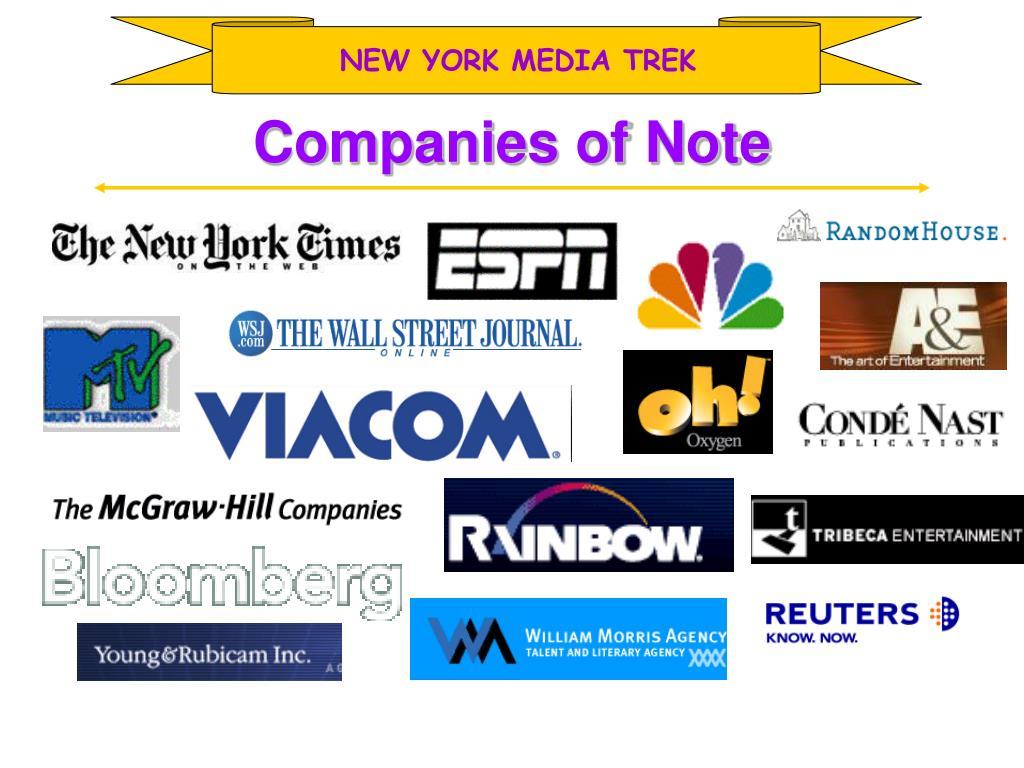NEW YORK MEDIA TREK