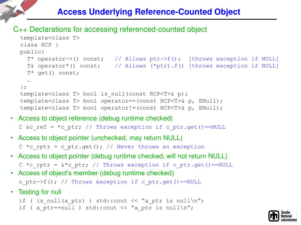 Access Underlying Reference-Counted Object