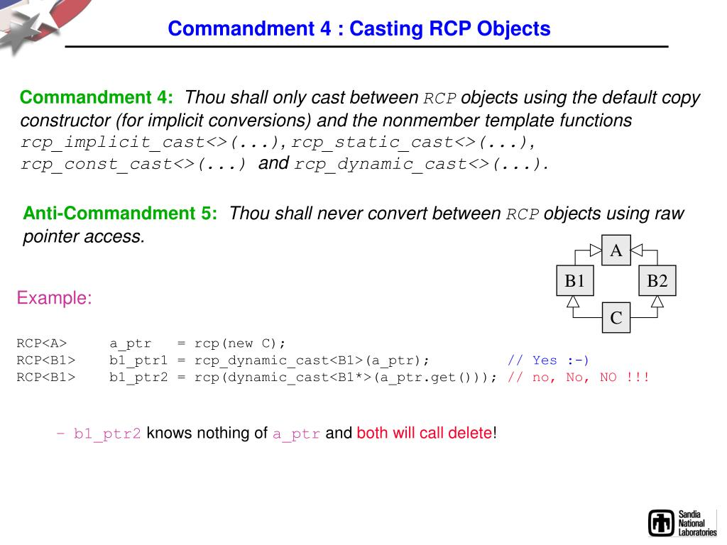 Commandment 4 : Casting RCP Objects