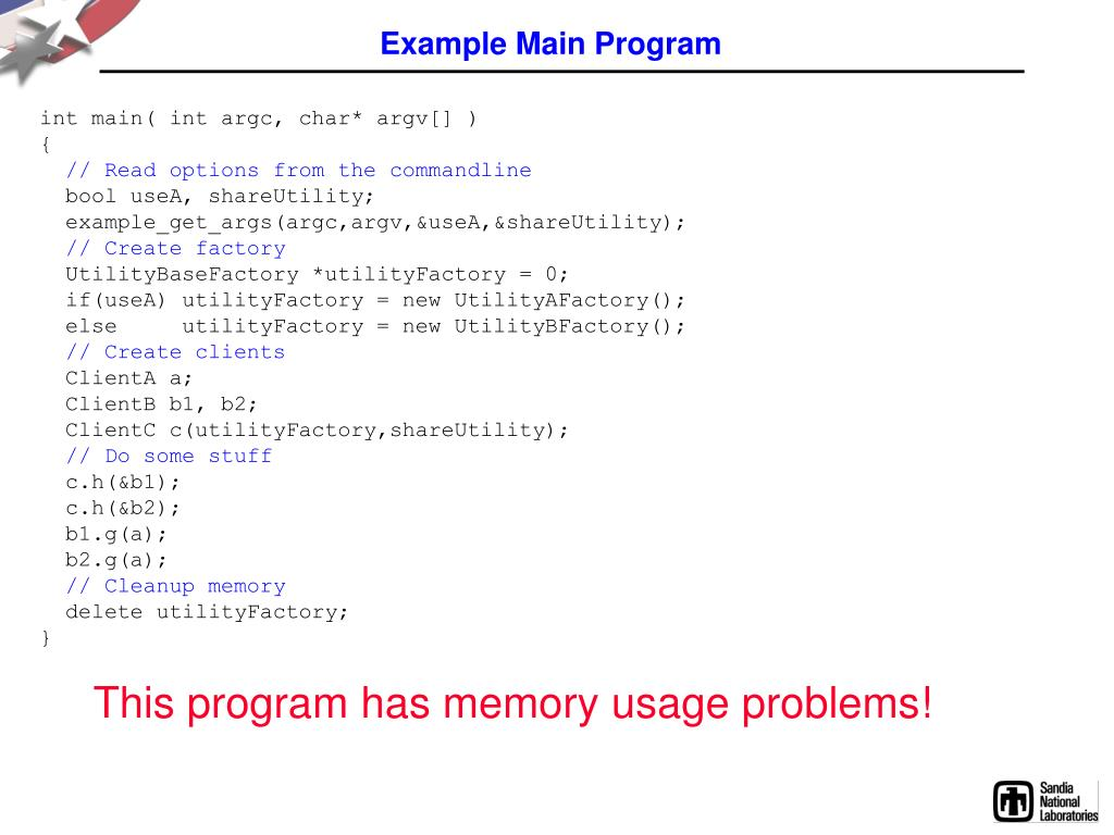 Example Main Program
