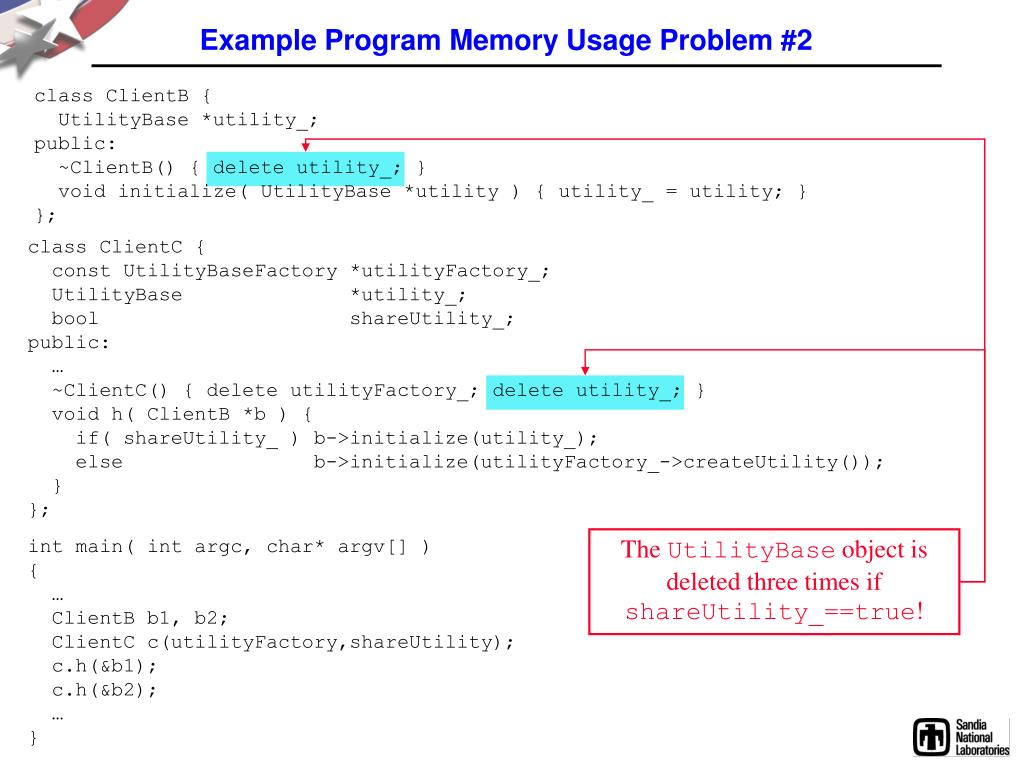 Example Program Memory Usage Problem #2