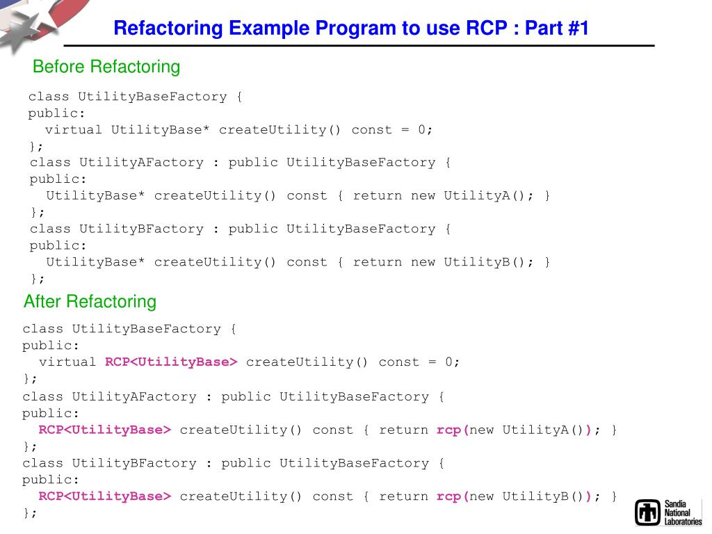 Refactoring Example Program to use RCP : Part #1