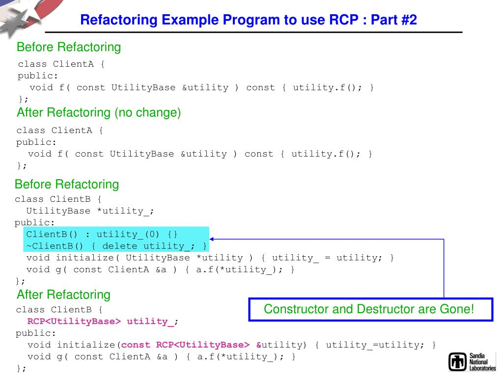 Refactoring Example Program to use RCP : Part #2