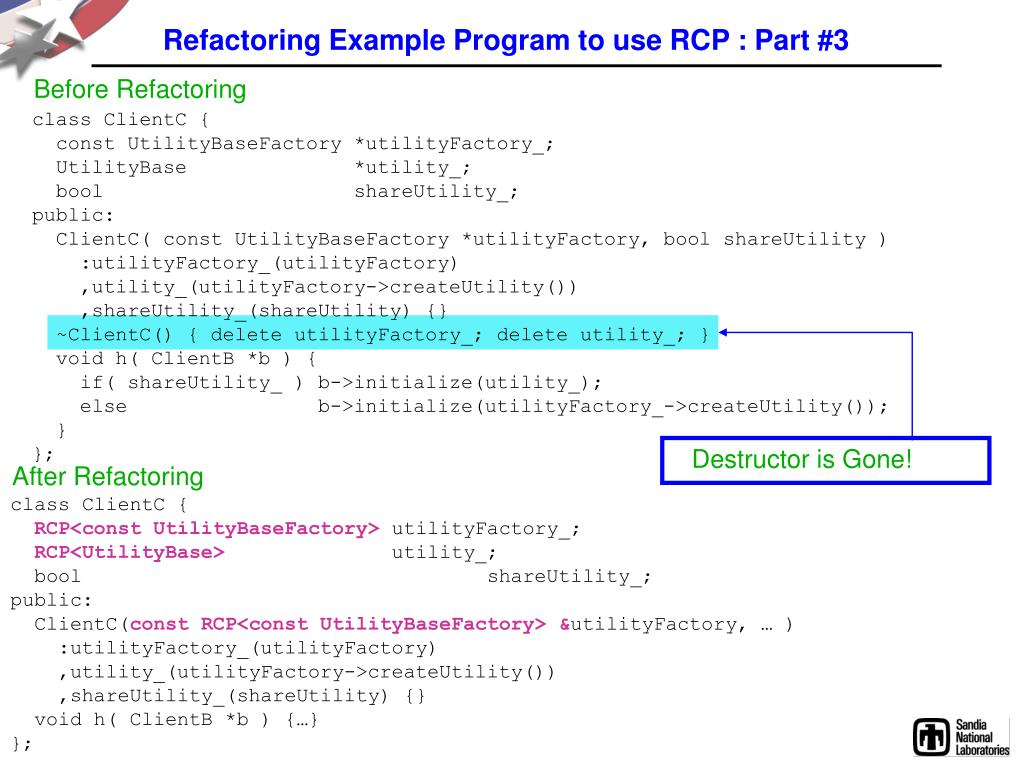Refactoring Example Program to use RCP : Part #3