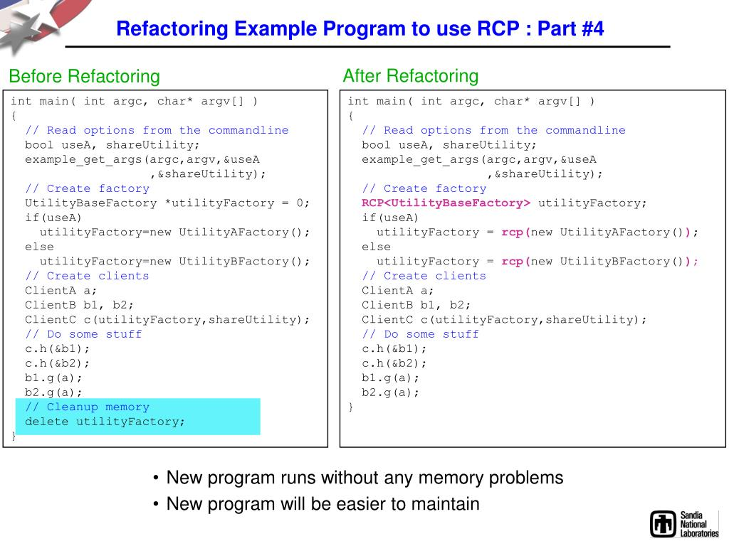 Refactoring Example Program to use RCP : Part #4