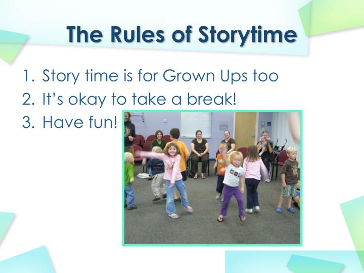 The rules of storytime