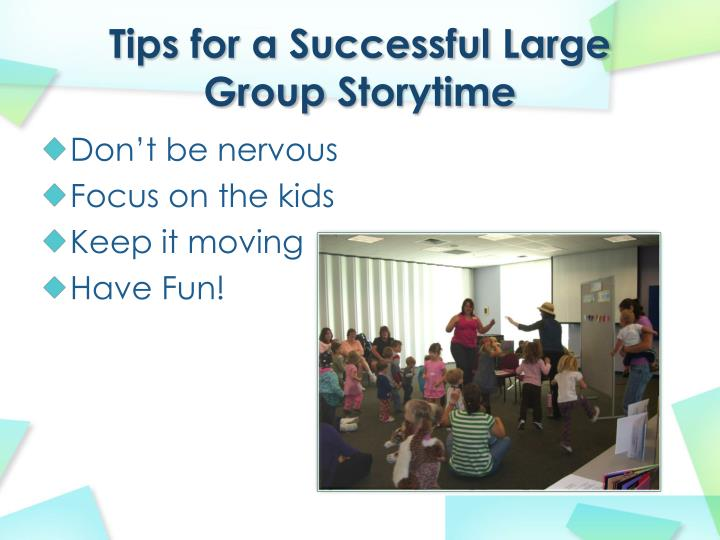 Tips for a Successful Large Group