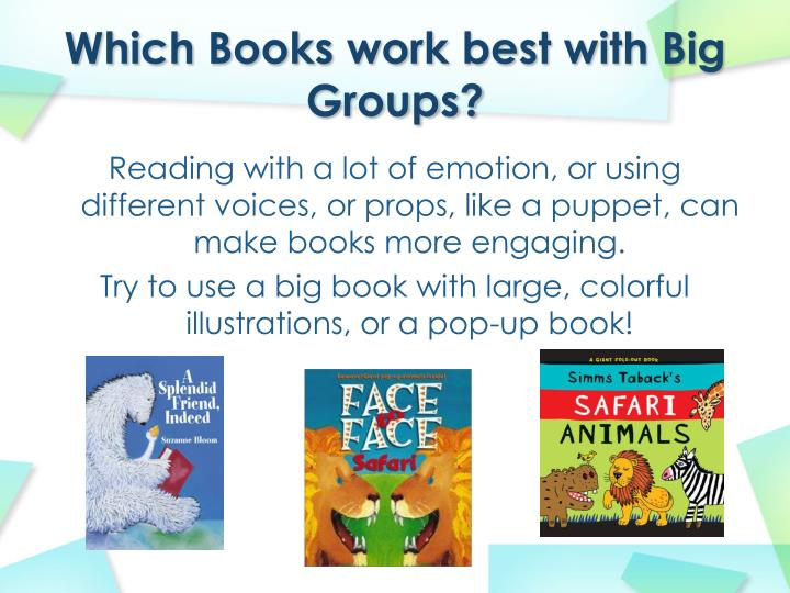 Which Books work best with Big Groups?