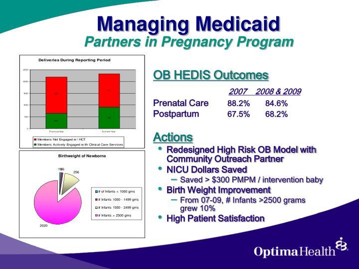 Managing Medicaid