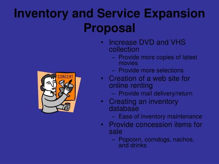 Inventory and Service Expansion Proposal