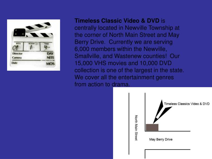 Timeless Classic Video & DVD