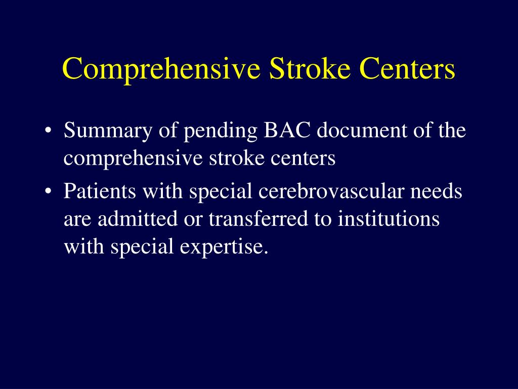 Comprehensive Stroke Centers