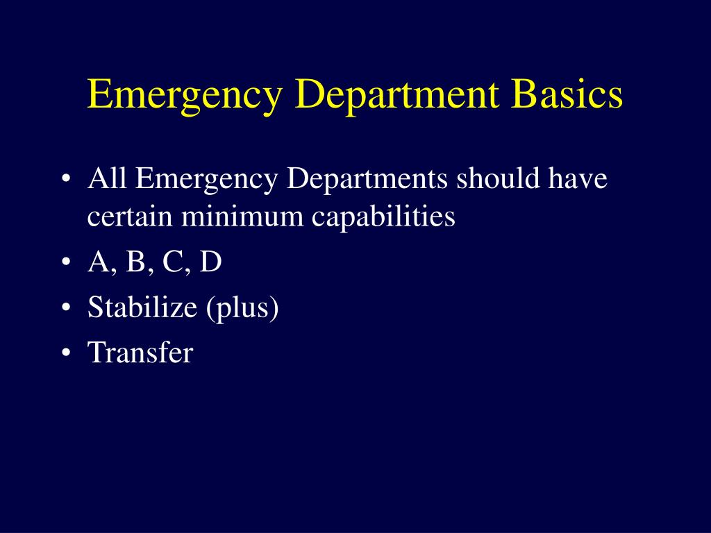 Emergency Department Basics