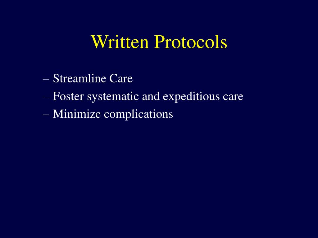 Written Protocols