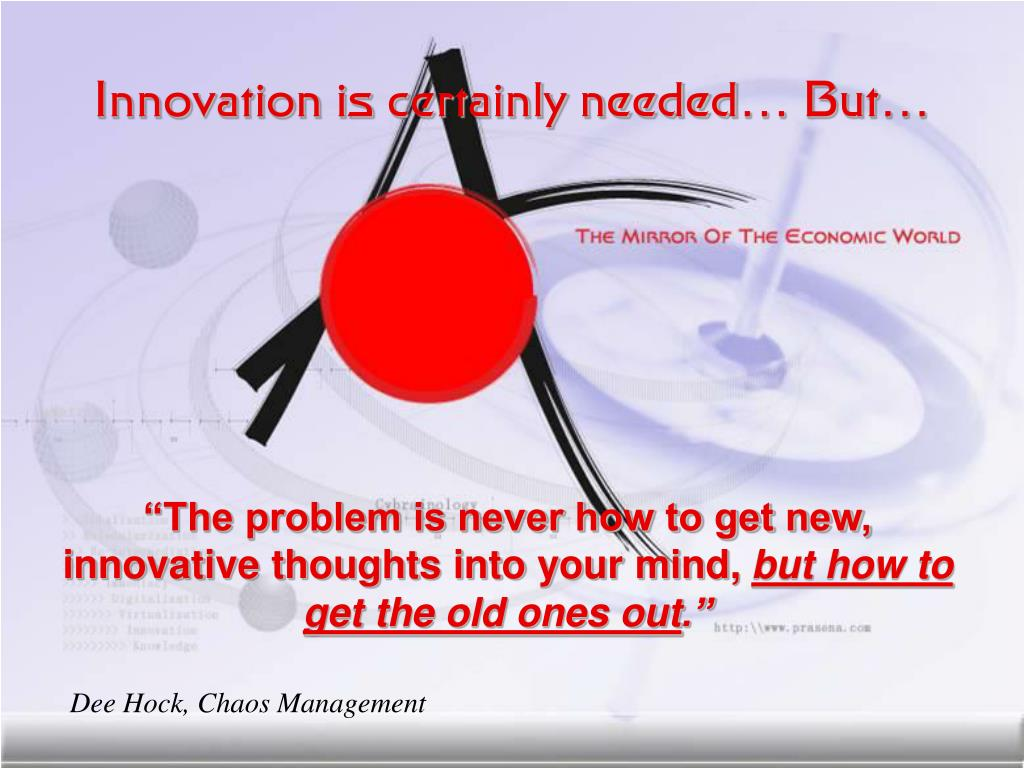 Innovation is certainly needed… But…