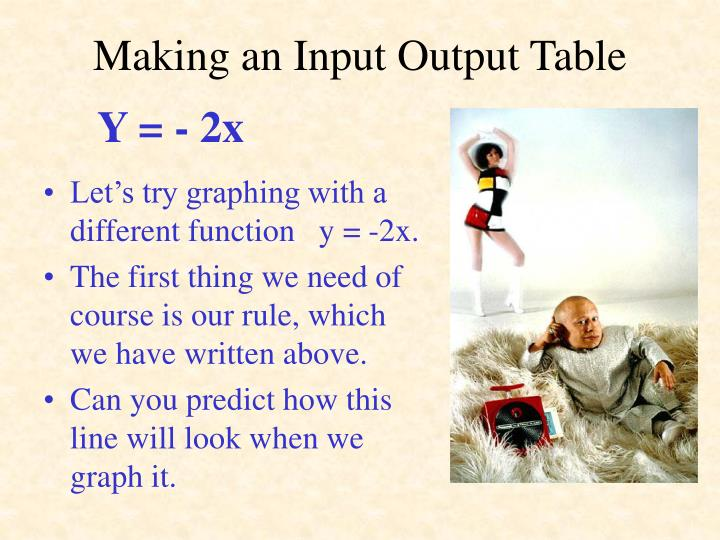 Making an Input Output Table
