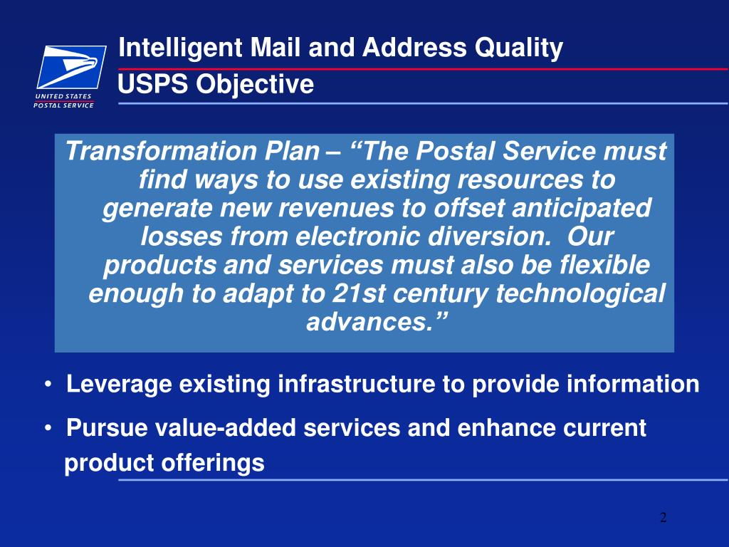 USPS Objective