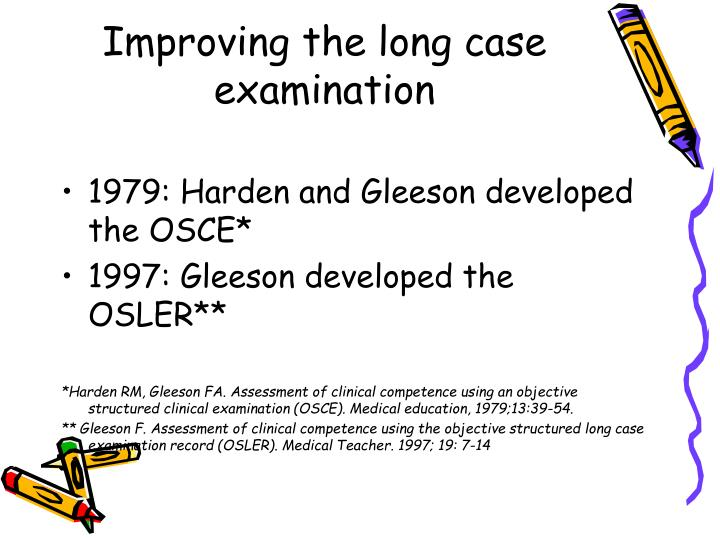 Improving the long case examination