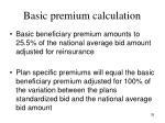 basic premium calculation