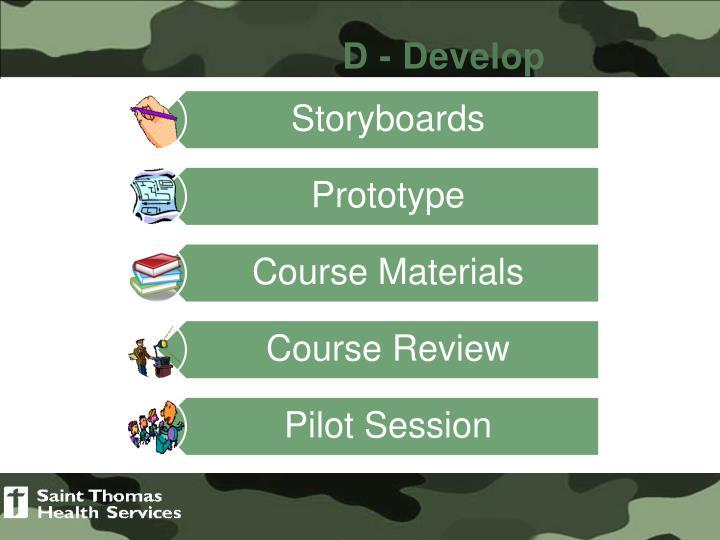 D - Develop