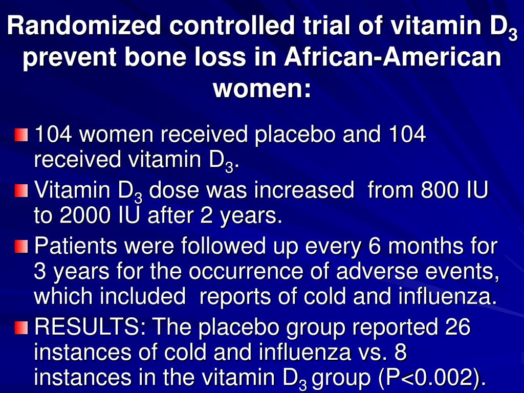 Randomized controlled trial of vitamin D
