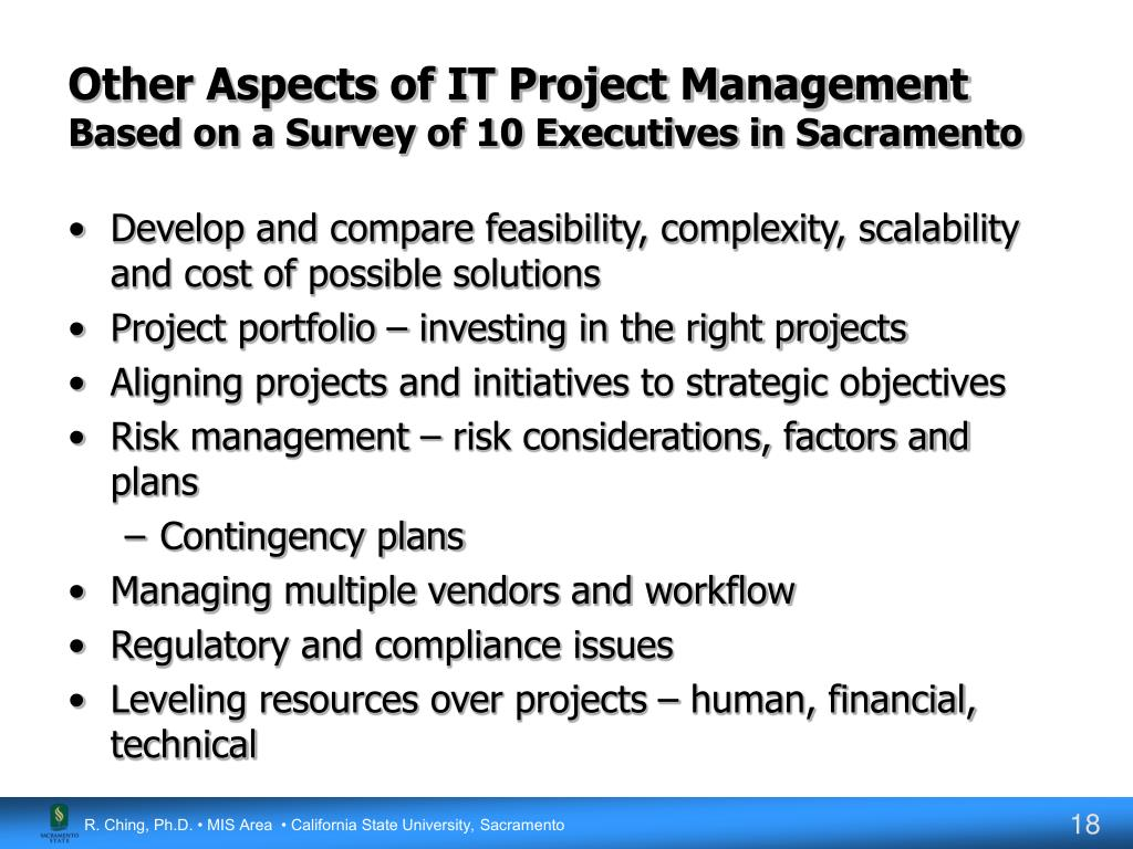 Other Aspects of IT Project Management