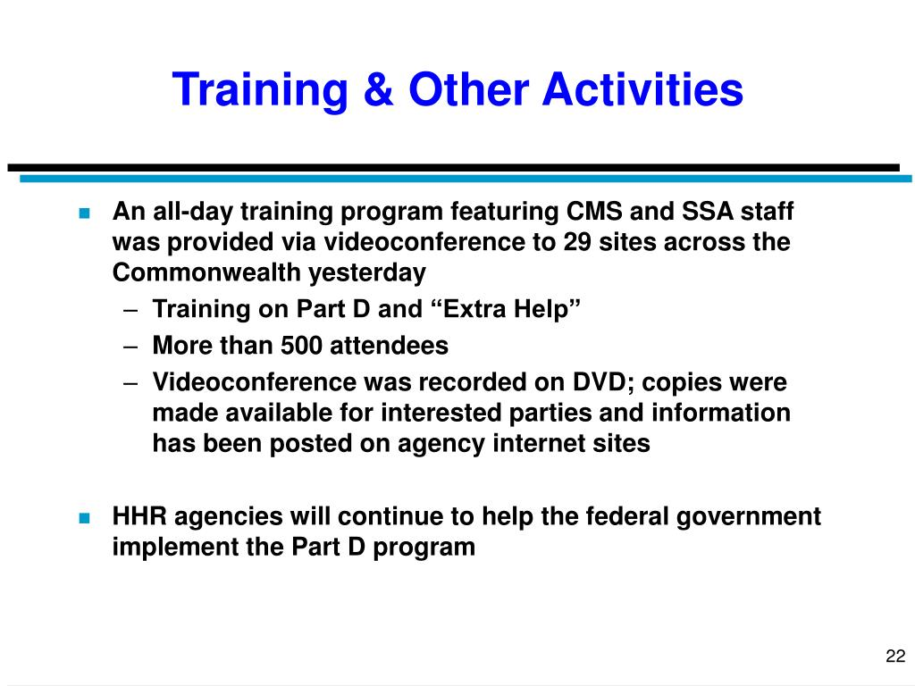 Training & Other Activities