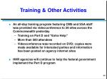 training other activities
