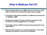 what is medicare part d