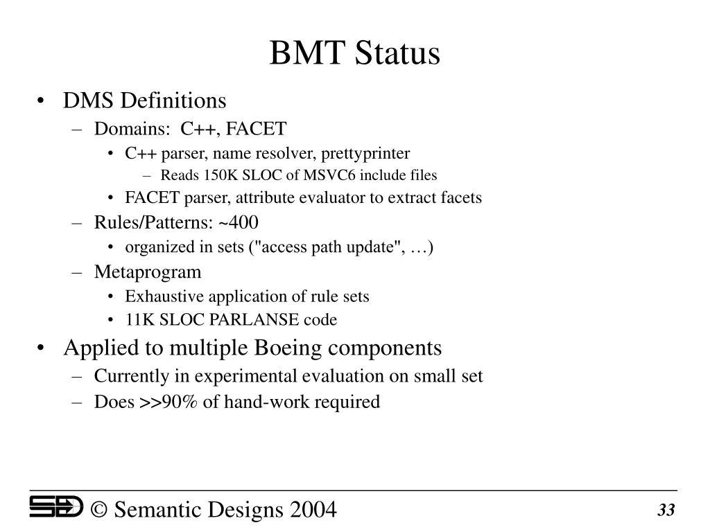 BMT Status