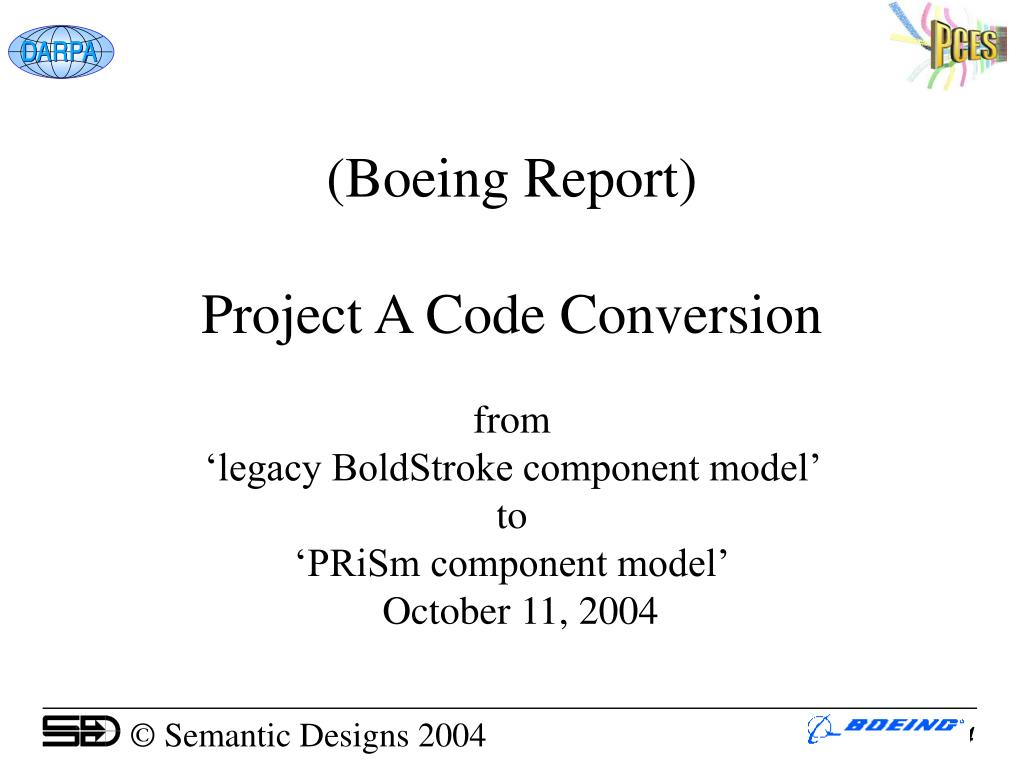 (Boeing Report)