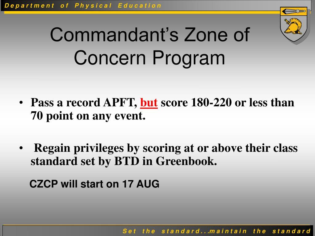 Pass a record APFT,