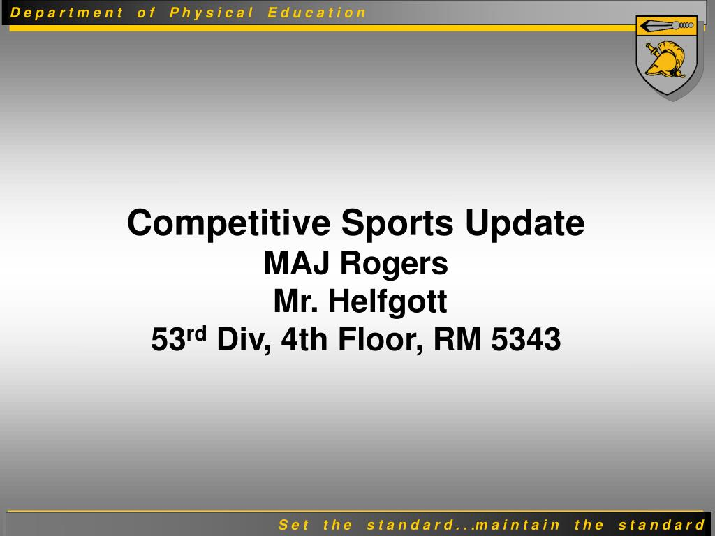 Competitive Sports Update