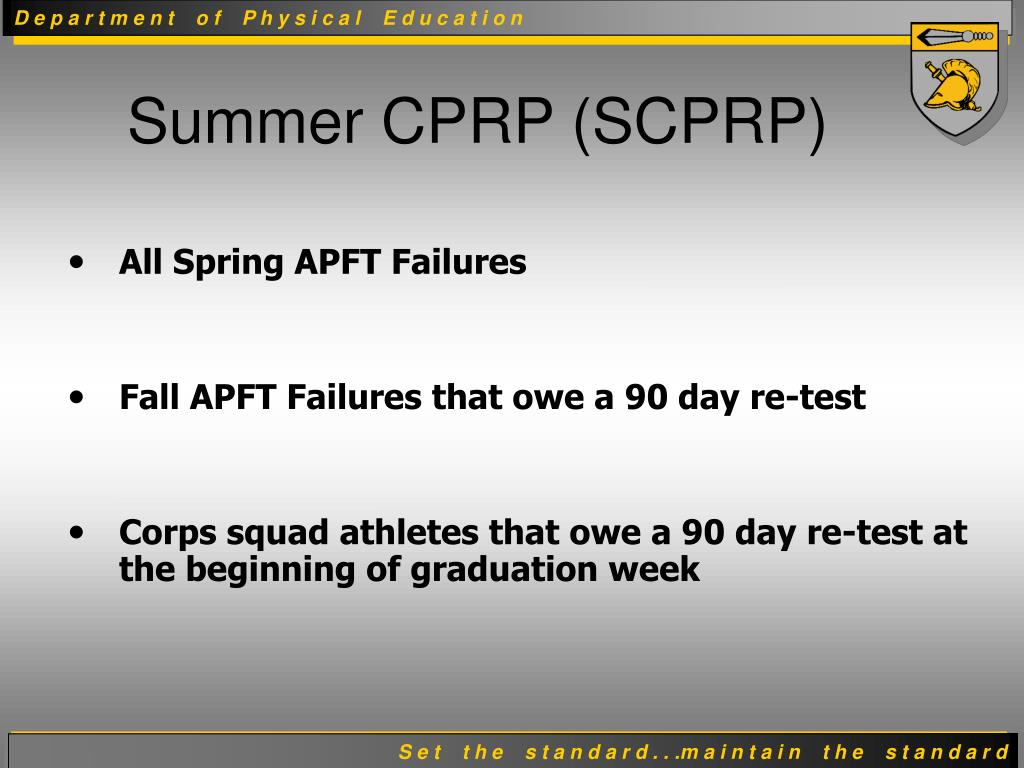 Summer CPRP (SCPRP)