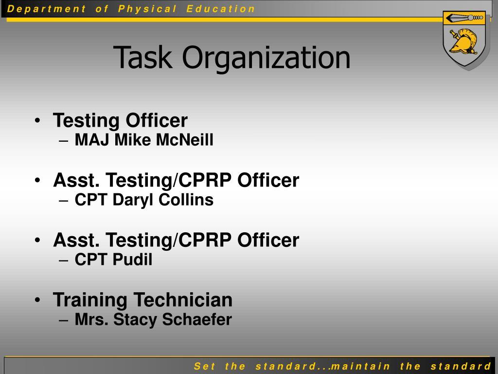Testing Officer