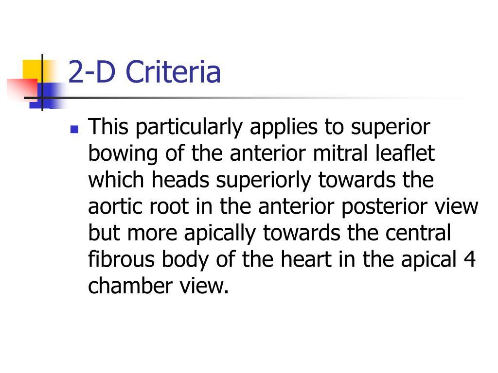 2-D Criteria