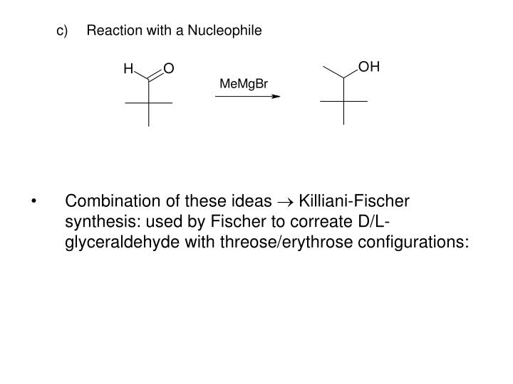 Reaction with a Nucleophile