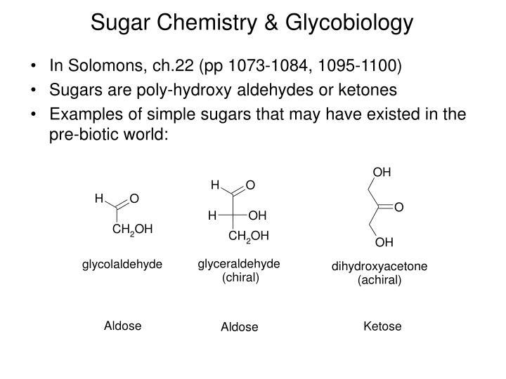 Sugar Chemistry & Glycobiology