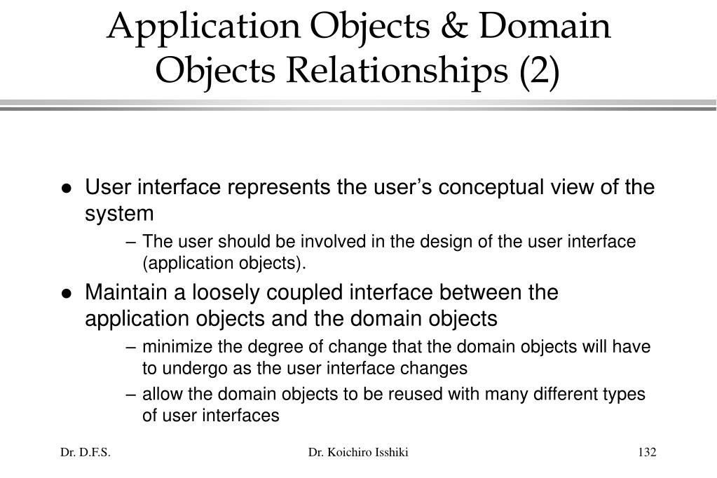 Application Objects & Domain Objects Relationships (2)