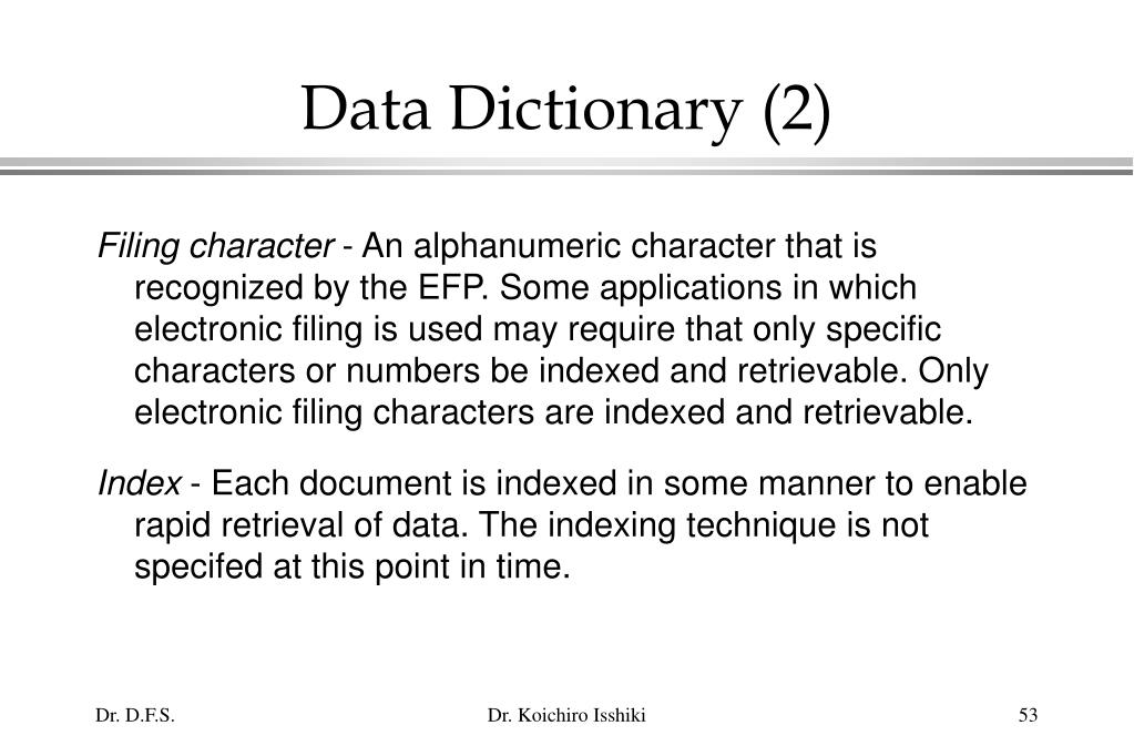 Data Dictionary (2)