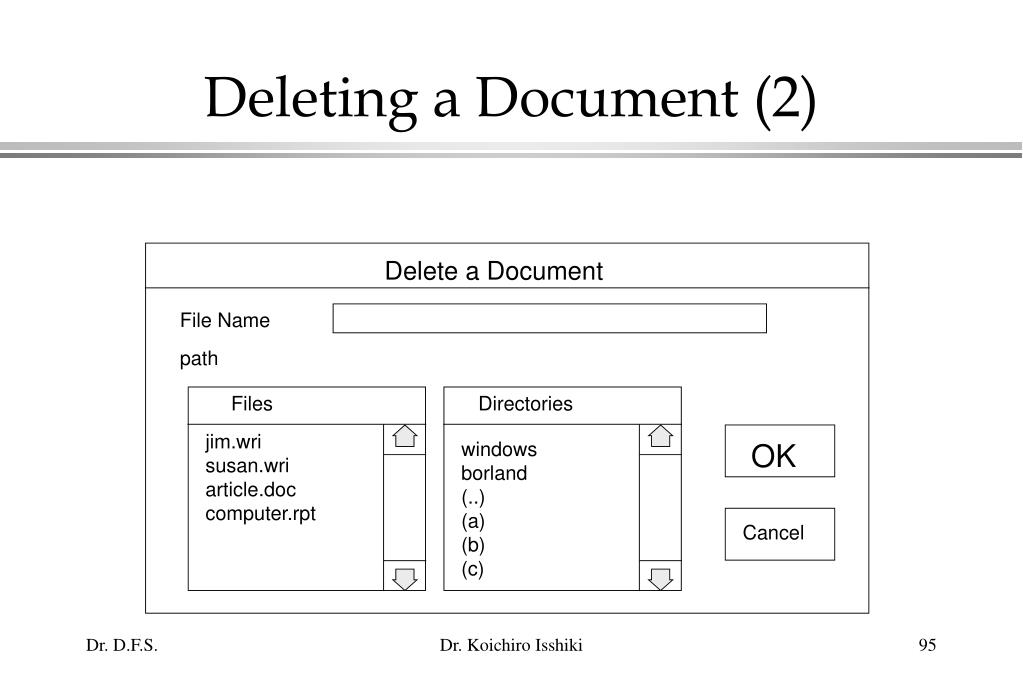 Deleting a Document (2)
