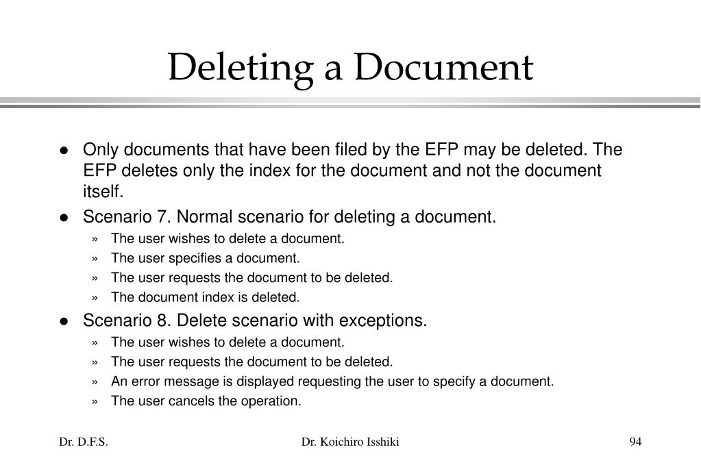 Deleting a Document