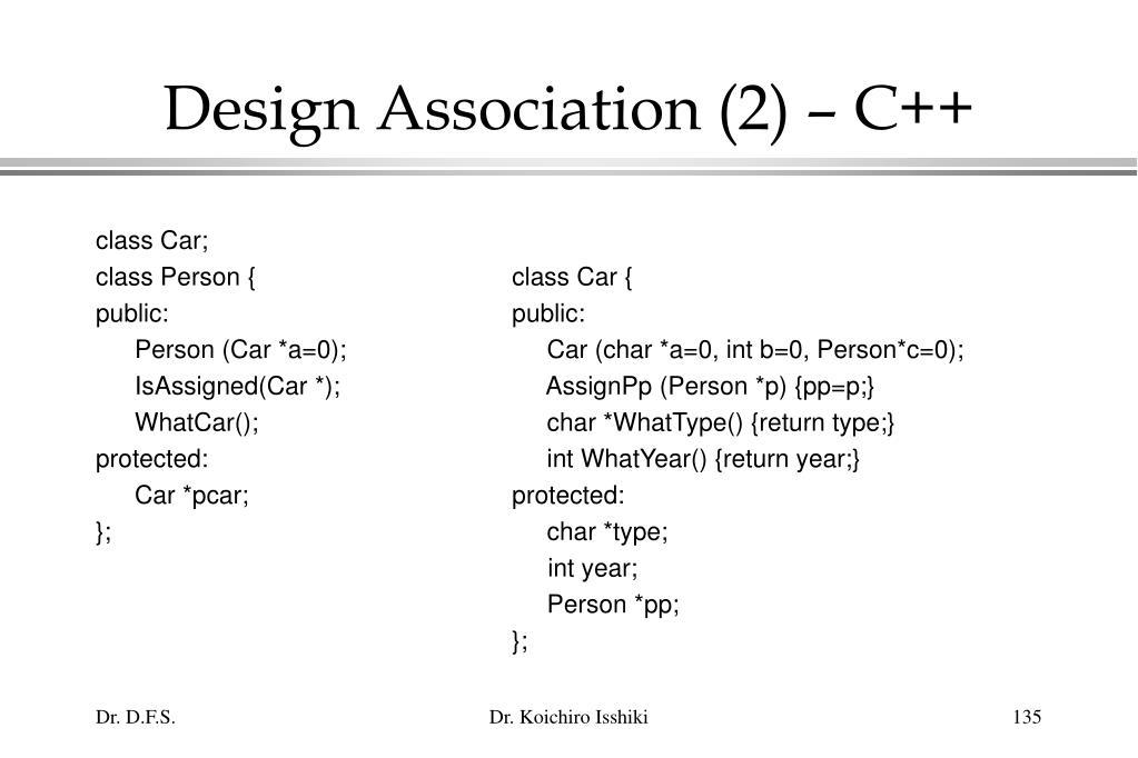 Design Association (2) – C++