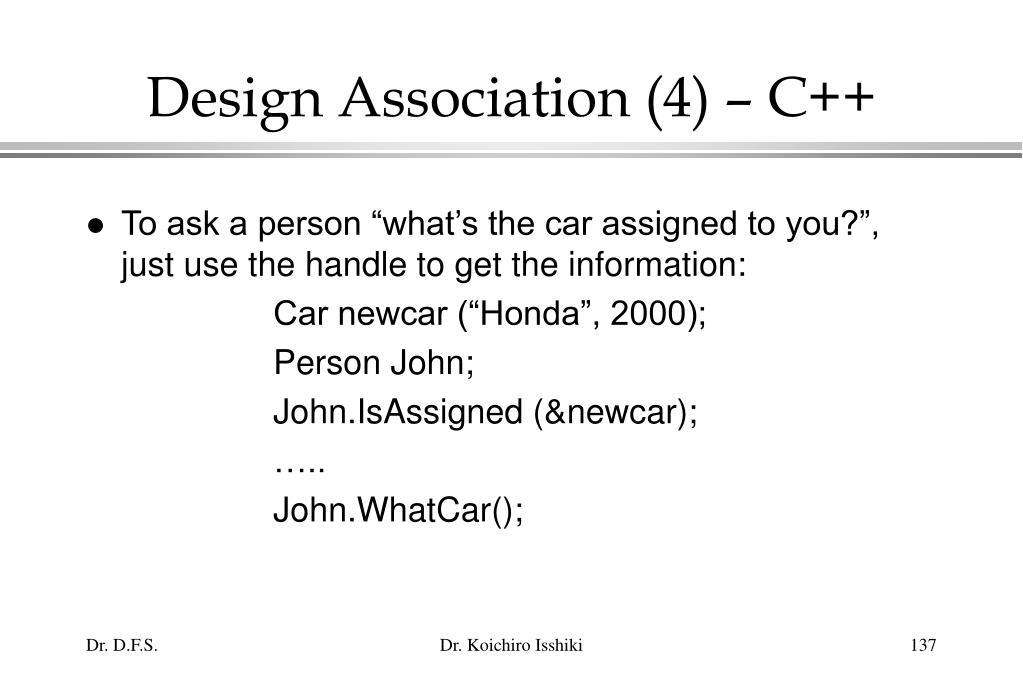 Design Association (4) – C++