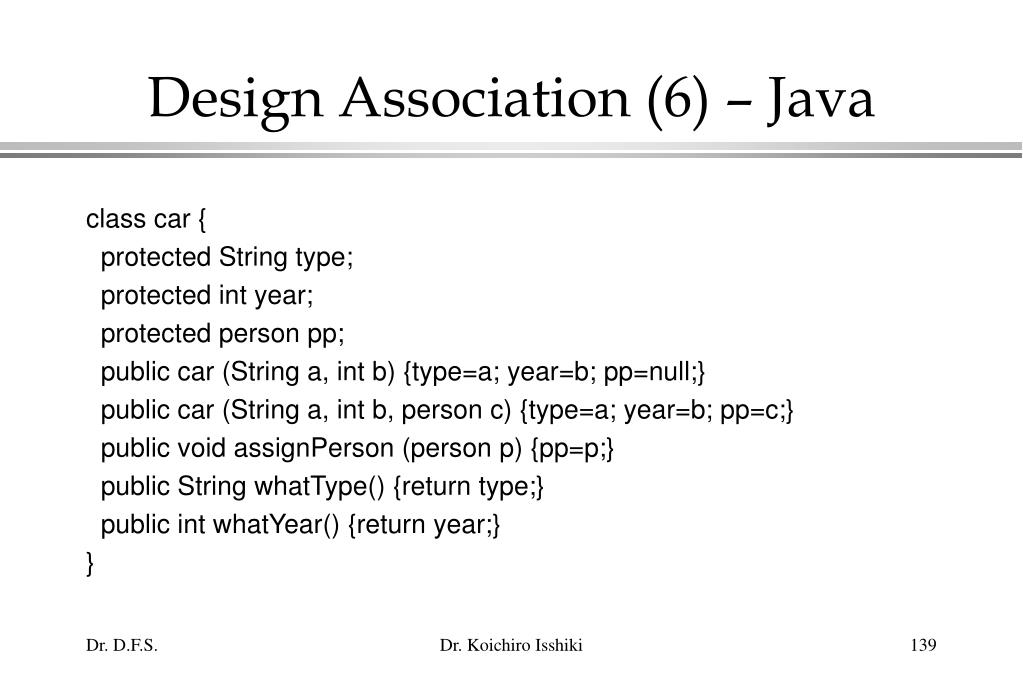 Design Association (6) – Java